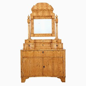 19th-Century Russian Biedermeier Birch Vanity Dressing Table