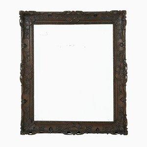Spiegel mit geschnitztem Eichenrahmen, 19. Jh.