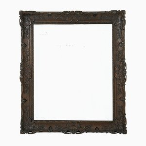 19th-Century Carved Oak Mirror