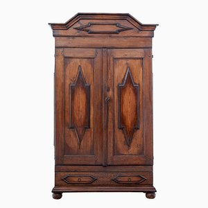 19th Century Swedish Baroque Pine Cabinet