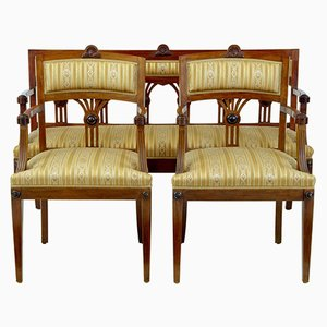 Antique Mahogany Sofa and 2 Armchairs