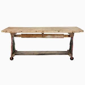 Antique Cast Iron Worktable