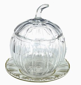 Cut Glass Pumpkin Punch Bowl, 1920s