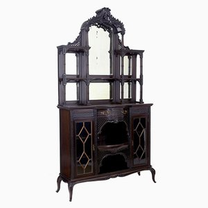 Antique Chinese Chippendale Style Mahogany Cabinet