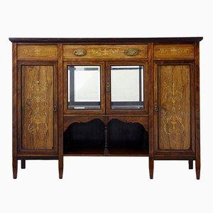 Vintage Edwardian Inlaid Rosewood Sideboard