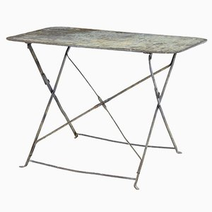 Vintage French Painted Steel Garden Table