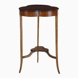 Antique Satinwood Occasional Table with Painted Decoration