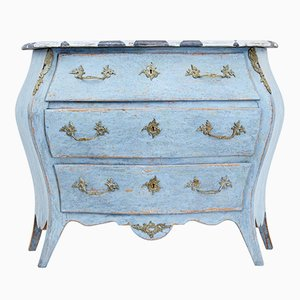 Antique Swedish Painted Bombe-Shaped Commode