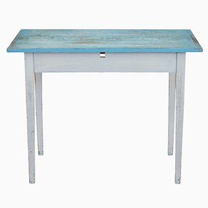 Antique Swedish Painted Occasional Table