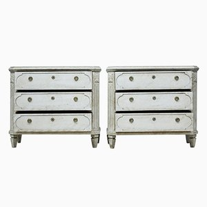 19th-Century Swedish Painted Commodes, Set of 2