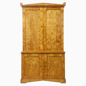 Antique Swedish Birch Cabinet