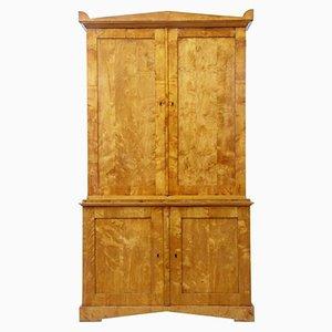 Antique Swedish Birch Cabinet