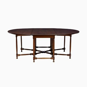 Large Mahogany Gateleg Dining Table, 1920s