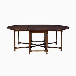 Tavolo da pranzo grande in mogano, anni '20