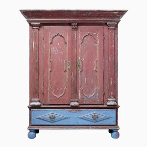 18th-Century Swedish Painted Cabinet
