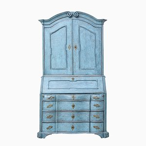 18th Century Swedish Oak Painted Bureau Bookcase