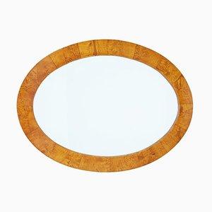Ovaler Spiegel mit Rahmen aus Birke, spätes 19. Jh.