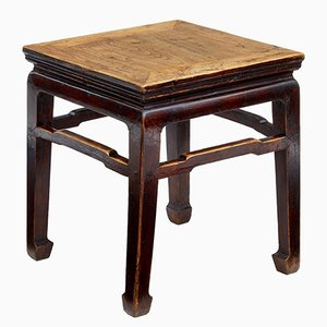 Late 19th-Century Chinese Elm Stool