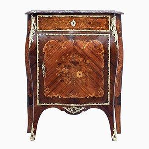 Mueble francés de nogal con incrustaciones de finales del siglo XIX
