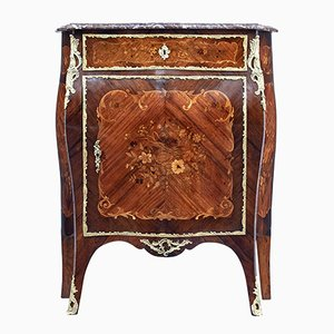 Late 19th-Century French Inlaid Walnut Cabinet