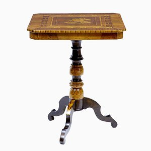 Late 19th-Century Italian Walnut Sorrento Occasional Table