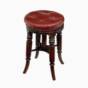 Late 19th-Century Mahogany Piano Stool