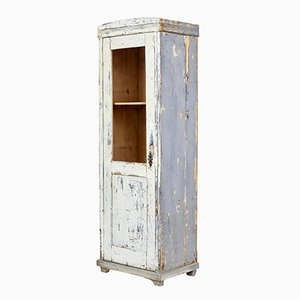 Late 19th-Century Rustic Painted Pine Cabinet