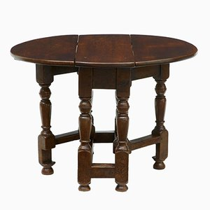 Small Antique Oak Gateleg Occasional Table