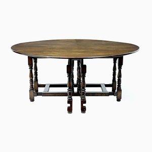 Large Antique Oak Gate Leg Table