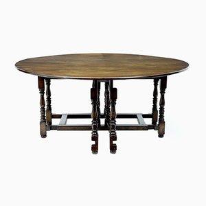 Großer antiker Gateleg Tisch aus Eiche