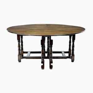 Large Antique Oak Gate Leg Table