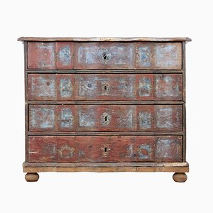 18th Century Danish Pine Painted Chest of Drawers