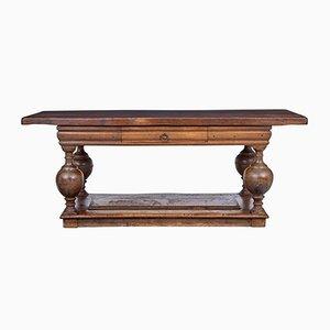 Antiker niederländischer Mensa-Tisch aus Eiche