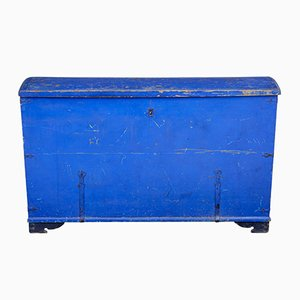 Antique Painted Pine Dome Top Trunk