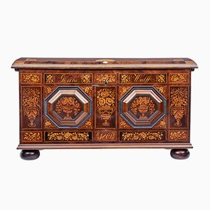 Antique Inlaid Walnut Dome Chest