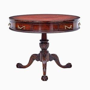 Amerikanischer Imperial Tisch aus Mahagoni mit Tischplatte in Trommel-Optik von Imperial Furniture, 1960er