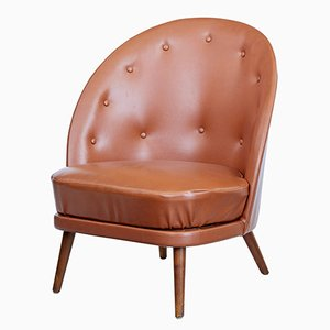 Mid-Century Leather Armchair by Arne Norell