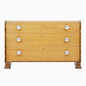 Birch and Elm Chest of Drawers, 1950s