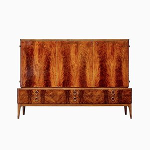 Mid-Century Flamed Mahogany Sideboard from Bodafors