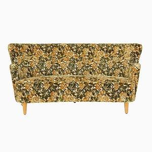 Mid-Century Concave Floral Sofa, 1950s