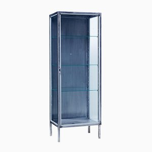 Vintage Polished Steel Medical Cabinet