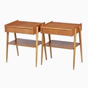 Mid-Century Teak Bedside Tables, Set of 2