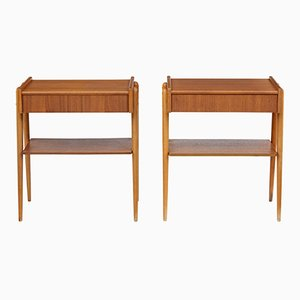 Tables de Chevet Mid-Century en Teck, 1960s, Set de 2