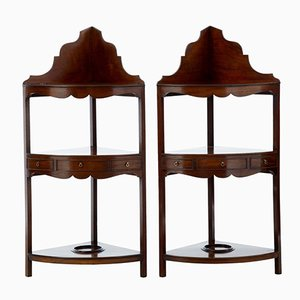 Antique Georgian Style Mahogany Washstands, Set of 2