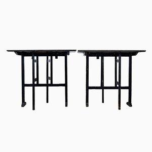 Tables Ragwork Carrées Pliantes Peintes Antiques, Suède, Set de 2