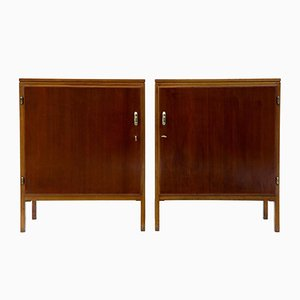 Mid-Century Mahogany Cabinets by David Rosen for Nordiska Kompaniet, 1950s, Set of 2