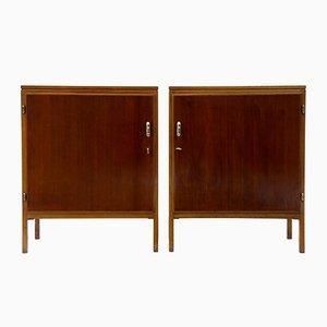 Muebles Mid-Century de caoba de David Rosen para Nordiska Kompaniet, años 50. Juego de 2