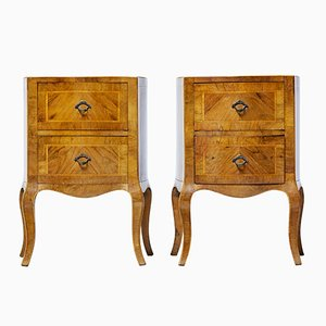 Antique Maltese Walnut Bedside Commodes, Set of 2