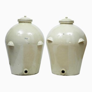 Vintage Stoneware Jars from Royal Doulton, Set of 2