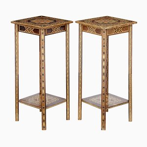 Mid-Century Damascan Lamp Tables, Set of 2